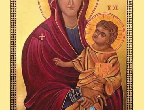 Modlitba v čase epidémie pred ikonou SALUS POPOLI ROMANI-POPULI CASSOVIENSIS